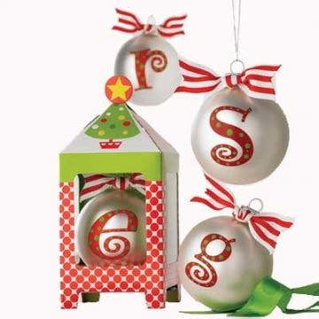 initial ornaments holiday