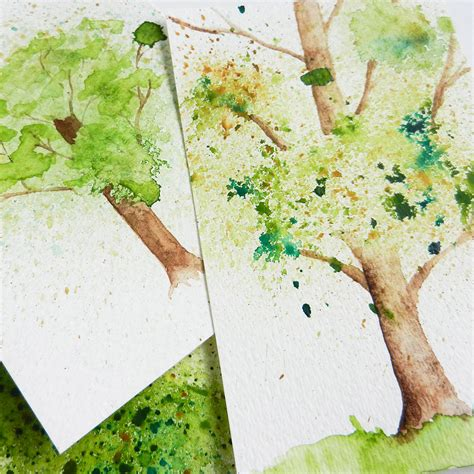 tutorial watercolor trees spatter watercolor tree tutorial the postman s knock