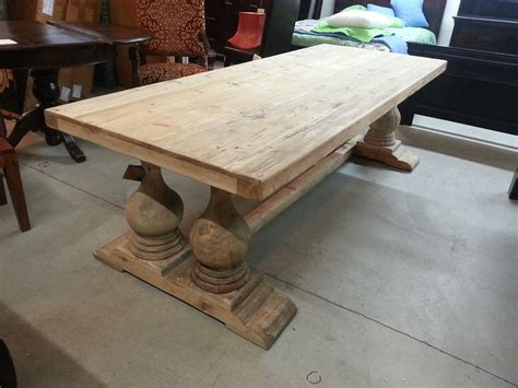 Distressed Wood Kitchen Table Furniture Shabby Chic Chateau Georgian Parisian Oak Hertfordshire Showroom