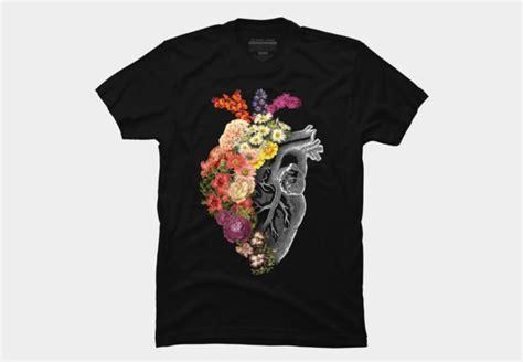flower t shirt design flower heart spring t shirt design fancy tshirts com