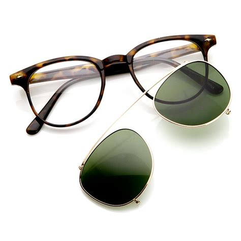 New Colection Frame Stacco Clip On Lensa retro fashion clip on lens p3 horned sunglasses ebay