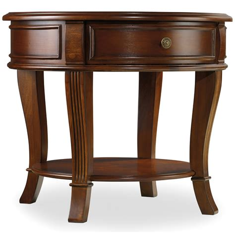accent tables with drawers hooker furniture brookhaven round end table with one