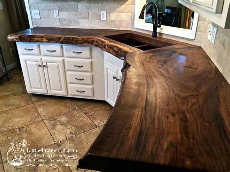 kitchen slab 20 ideas for installing a wooden countertop at your home