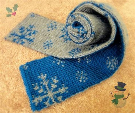 knitting pattern scarf double knit you have to see double knitting snowflakes scarf by