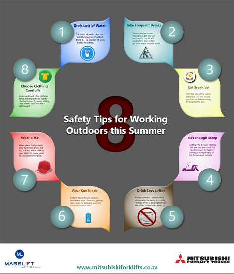 8 Safety Tips For by Infographic 8 Safety Tips For Working Outdoors This Summer
