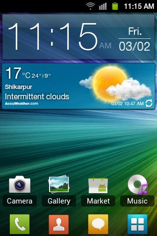widgets weather widget digital clock samsung galaxy s ii i9100