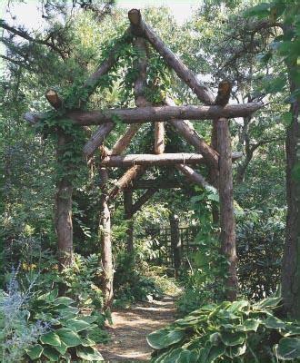rustic  timber pergola  classic  structure