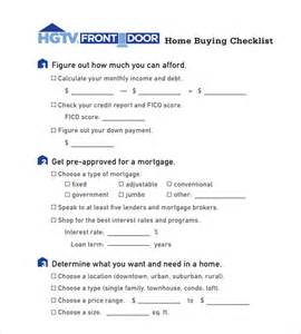 house buying checklist template home buying checklist 12 free sles exles format
