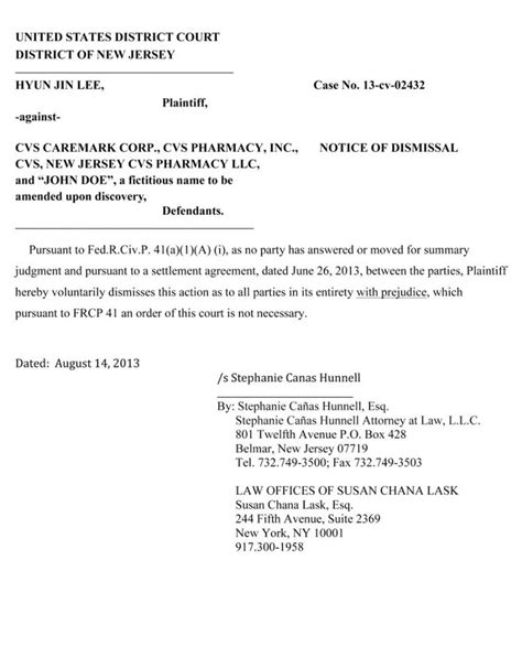 Rent Settlement Letter Cvs Lawsuit Settled The Gun
