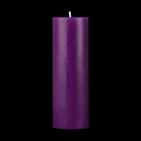 Rhinestone Vases Wholesale 2x6 Purple Pillar Candle