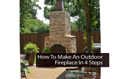 how to make an outdoor fireplace in 4 steps garden how to make an fireplaces