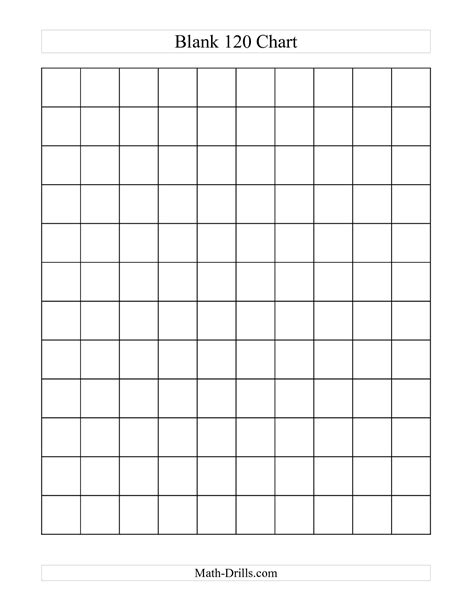 Blank Calendar Chart