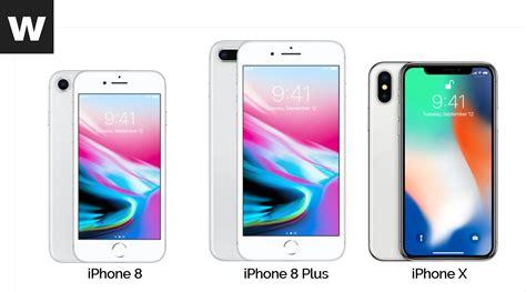 duelo de smartphones iphone 8 vs iphone 8 plus vs iphone