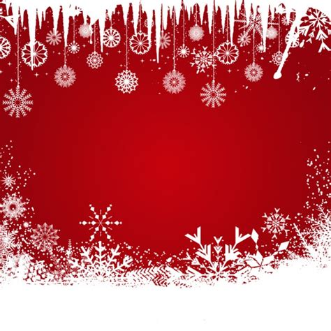 wallpaper christmas vector red christmas background with snowflakes vector free