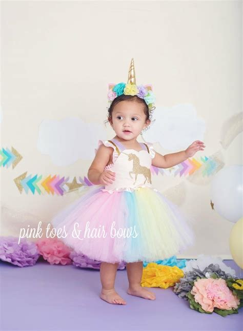 Tutu Dress Flower Pink Series A0050 unicorn dress unicorn tutu dress unicorn birthday dress unicorn tutu u pink toes hair bows