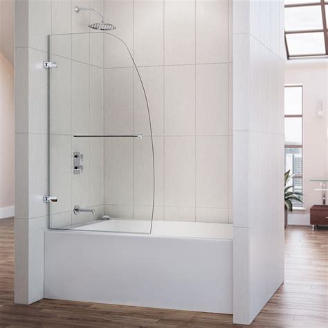 dreamline aqua uno 34 inch frameless hinged tub door by
