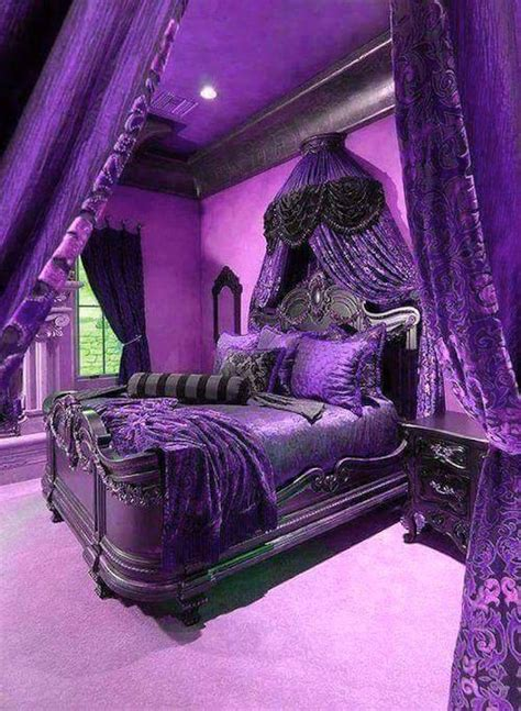 purple and black bedrooms 21 stunning purple bedroom designs for your home 16810 | Purple Bedrooms