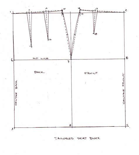 pattern drafting pencil skirt drafting a skirt block the compulsive seamstress