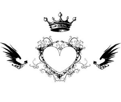 heart with crown tattoo designs crown n design tattoos book 65 000
