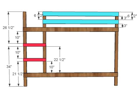 bunk bed ladder plans ana white classic bunk beds diy projects