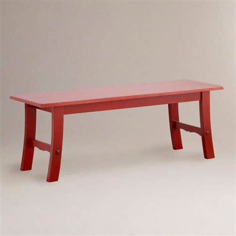 red entryway bench red asian bench asian indoor benches by cost plus