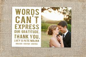 thank you wedding cards glitter wedding thank you card design