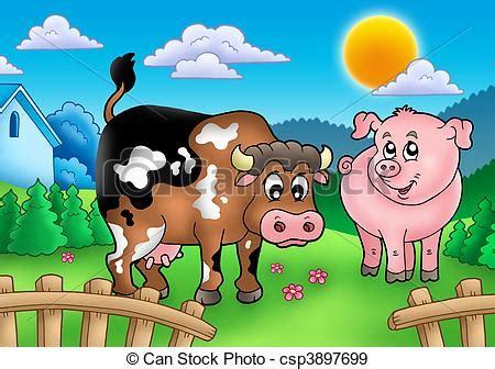 La Grange Des Pères Prix by Illustration De Dessin Anim 233 Derri 232 Re Barri 232 Re Vache