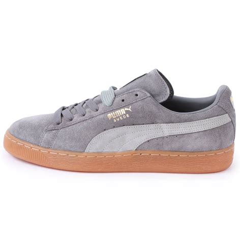 shoes grey suede classic 356568 25 mens laced suede trainers
