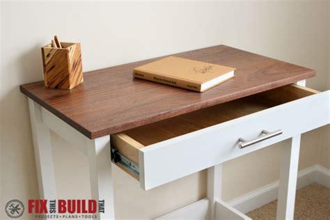 diy desk drawers diy writing desk fixthisbuildthat