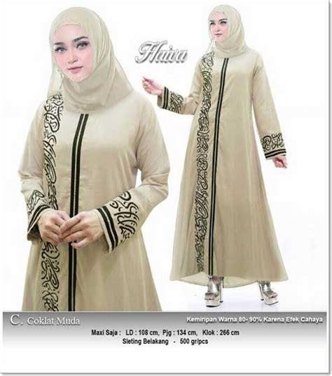 Busana Baju Muslim Iybf0004 0004 Dress Hitam jual baju gamis katun bahan linen rami
