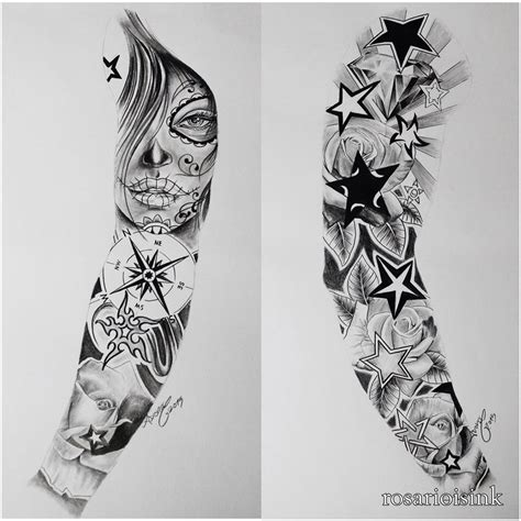 time tattoo sleeve designs sleeve designs on paper amazing