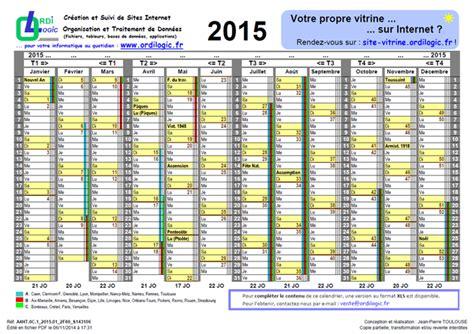 Calendrier F 2015 Ordilogic Fr Calendrier Annuel 2015 Zones A B C