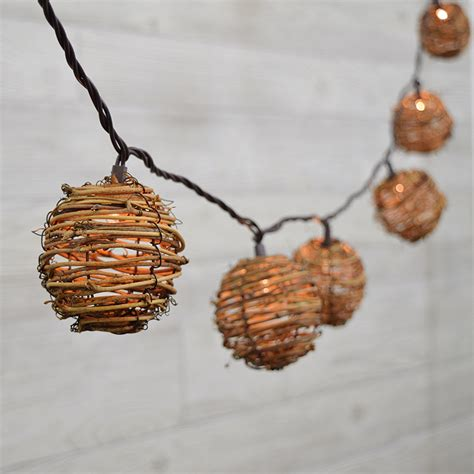 rattan string lights twig rattan lights 10 lights