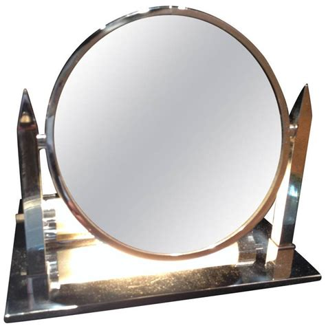 deco lighted magnifying mirror at 1stdibs
