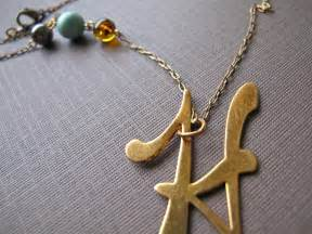 Gold Monogram Initial Necklace Initial Impact Necklace Letter H In Bright Naturals Also