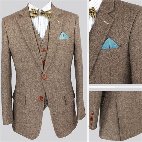 light colored mens aliexpress buy retro light colored brown tweed