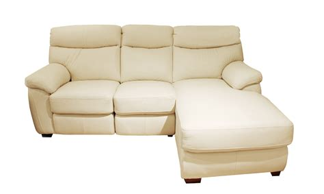 cream leather chaise california leather chaise sofa rhf in 35 42 cream