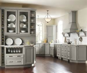 Color Kitchen Cabinets Homecrest Brenner Door Style On Maple With Willow Finish Flat Panel Doors Are Today S Top