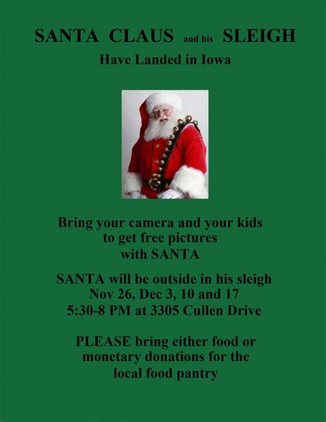 Food Pantry Ames Iowa by Santa Is A Food Drive 171 Santa Ames