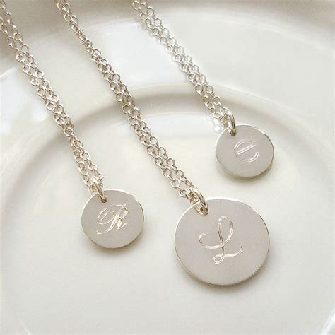Letter Necklace Silver initial sterling silver necklace necklaces pendants