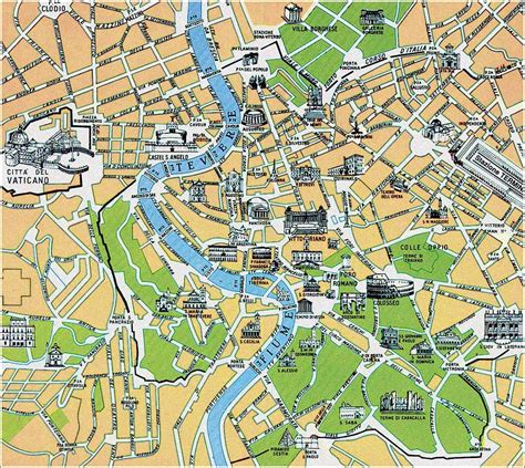 rome city map rome then and now petros