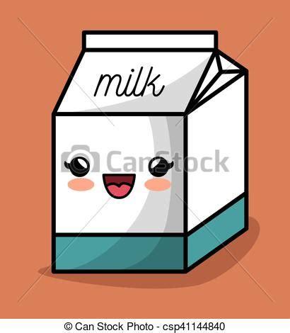 imagenes kawaii leche vettore eps di scatola kawaii disegno felice latte