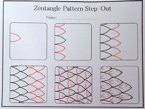zentangle pattern step outs cute fishies zentangle fun step out and finished
