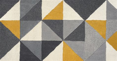 teppich gelb grau grey mustard yellow rug large wool tufted geometric 160 x