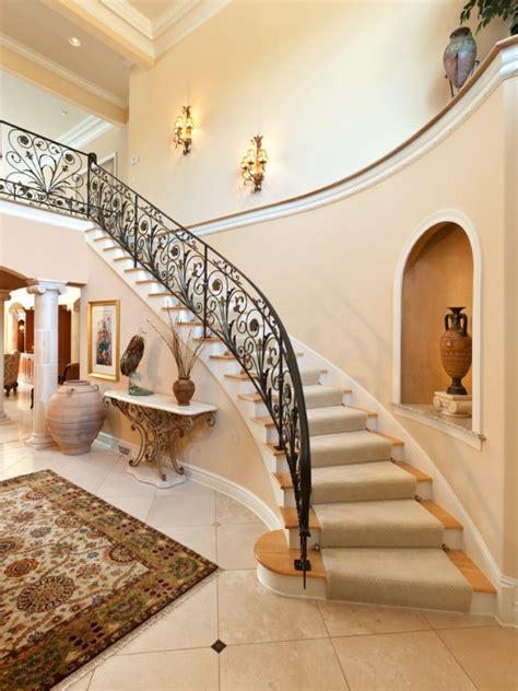 palatial mediterranean staircase designs  redefine