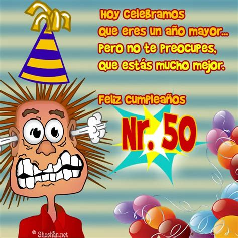 imagenes de cumpleaños numero 50 im 225 genes feliz 50 cumplea 241 os