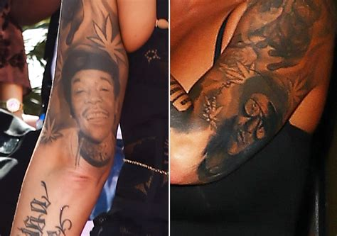 wiz amber rose tattoo covers up