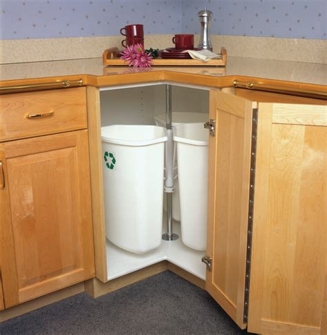 kitchen cabinet recycle bins hafele recycling and waste corner rotate bins kitchen