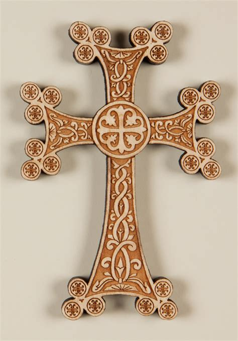 armenian laser engraved wall cross
