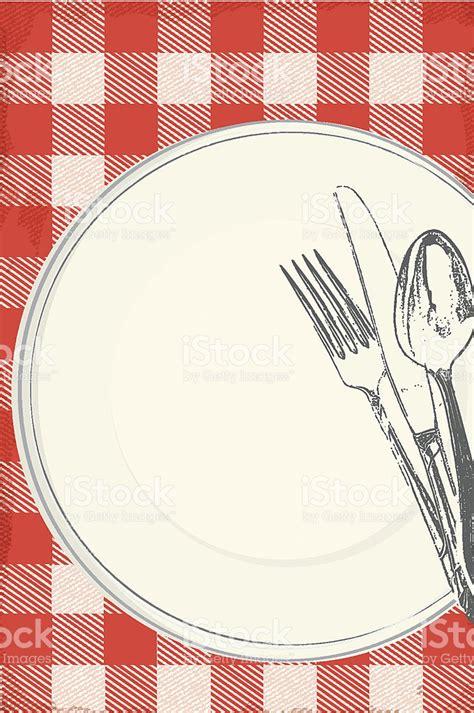 clipart pranzo family picnic lunch invitation design template stock